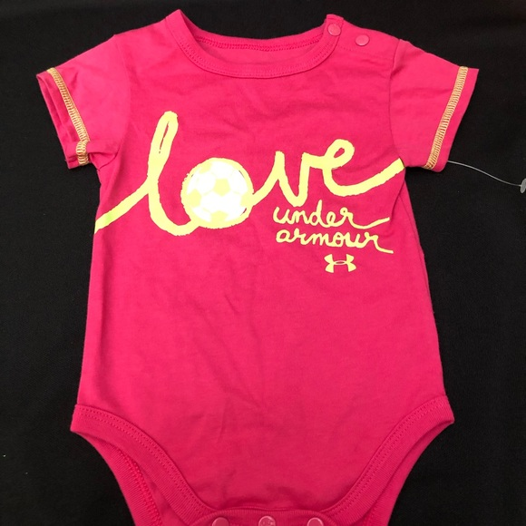 Under Armour Other - Girls Infant 3-6 M Under Armour Onesie Pink NWT